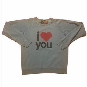 FREECITY BASIC GOODNESS love life sweatshirt S